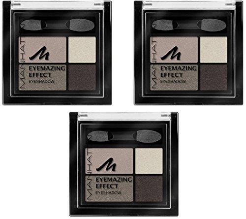 Manhattan Eyemazing Effect Eyeshadow - Schmink-Palette aus vier schimmernden Lidschatten-Farben für Smokey Eyes - Farbe Rosy Wood 95C - 1 x 5g