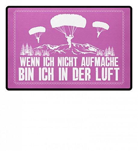 shirt-o-magic .bin ich in der Luft - Geschenk Gleitschirmflieger-in Gleitschirm-Fliegen Paragliding - Fußmatte
