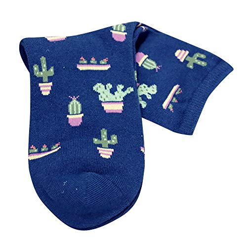 (TPulling Bunte Socken Damen Witzige Socken Weihnachten Deko Schneemann Rentier 1 para Erwachsene Frauen Männer Nette Lässige Thicke Kaktus Print Mode Kurze Socken)