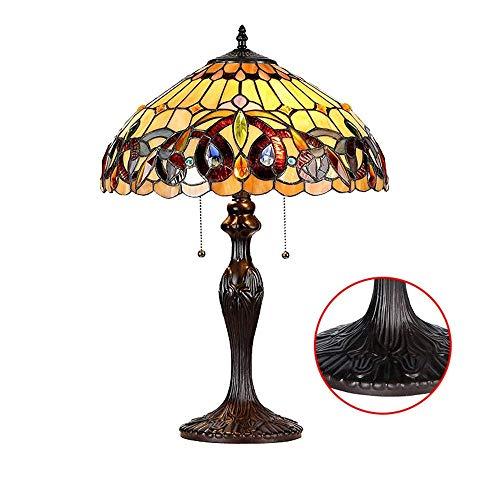 Tiffany Tischlampe Schlafzimmer Lampe Nachttischlampe Glasmalerei Barock Weinlese Pastoral...