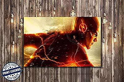 The Flash Comic Tv Canvas Print - Canvas Art - Wall art - Framed Print