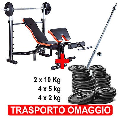 Kit Panca Bench Pro Deluxe + Bilanciere + Pesi Victoria by Oliviero panca ginnica, bench pro, pache addominali, panche per home fitness, panche ginniche, pesi, pesi in ghisa, dischi in ghisa, offerte oliviero, offerte su oliviero.it, nere, nera, neri, pro,pro,