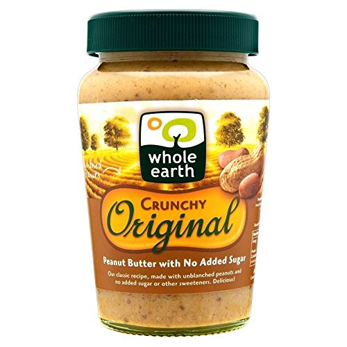 Whole Earth Crunchy Peanut Butter origine Sans sucre ajouté (340g) - Paquet de 6