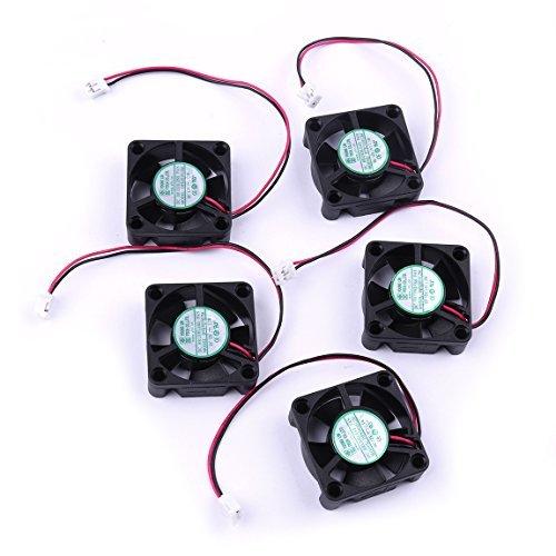 ATOPLEE 5pcs Mini 12V 30x30x10mm Lüfter 5000rbm für Reprap 3D-Drucker Extruder Teile -