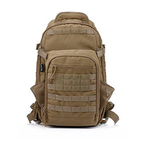 Imagen de yakeda® bolsa de hombro bolsos del alpinismo al aire libre equipado camuflaje táctico  de camping bolsa de viaje bolsas de viaje   militar 60l que acampa yendo trekking bolsa  a88034 color barro