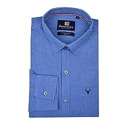 d52dc8e2d0d2d 84%off Daniel Estasi Mens Full Sleeve Slim Fit Fil-a-fil Blue Casual Shirt