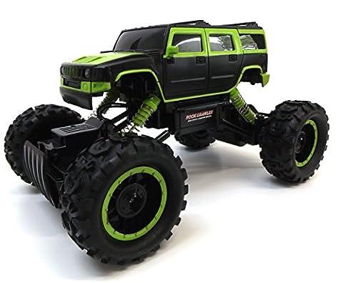 Mega Wheelz® 61403 - 2,4 Ghz Monstertruck Ferngesteuert, Hummer Rock Crawler, Ferngesteuertes Auto für Draußen, RC Auto