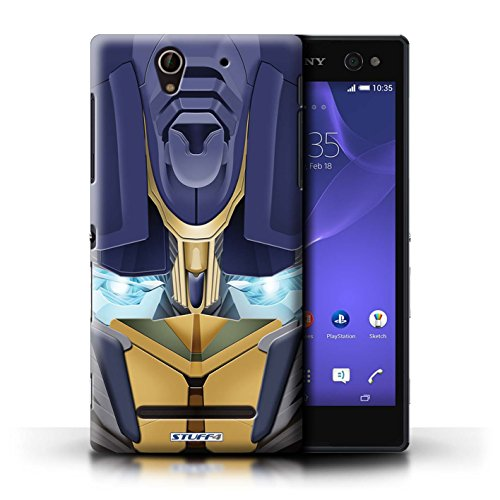 Kobalt® Imprimé Etui / Coque pour Sony Xperia C3 / Bumble-Bot Vert conception / Série Robots Opta-Bot Jaune