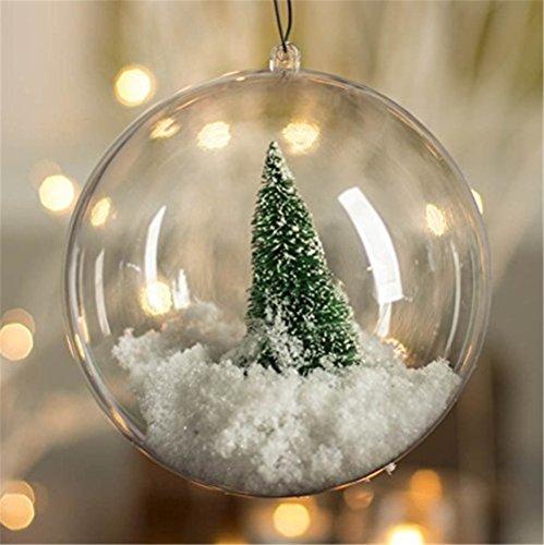 (XYHD Transparent Befüllbar Ball Kugel Weihnachten Ornament Party Dekoration, Plastik, 5 Stück, 80mm)