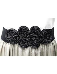 BRANDELIA Cinturón Elástico Mujer Fiesta Estilo Cordón de Seda para  Combinarlo Con Vestidos 4ef44794ee8b