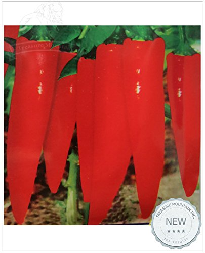 Pinkdose 2018 Hot Sale 1 Original Pack, 800 Seeds/Pack, Early Varieties Long Red Hot Chili Pepper, Non-GMO Heirloom Vegetables