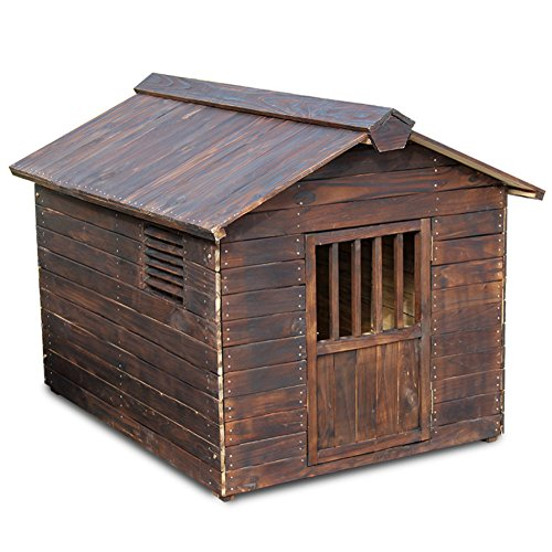 SL&ZX Outdoor-indoor Hundebox,Massivem Holz Anti-korrosions-zwinger Hin Aus Holz Hundehütte Hölzerne Hundehütte Katzenstreu Käfig Pet Nest Hundehaus Haustier Haus Kennel