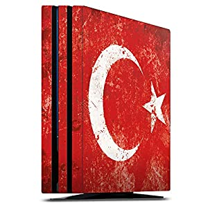 DeinDesign Skin kompatibel mit Sony Playstation 4 PS4 Pro Folie Sticker Türkei Flagge Mond