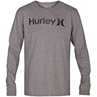 Hurley One&Only Push Through Camiseta de Mangas Largas, Hombre, Gris (Grey Heather), 2XL