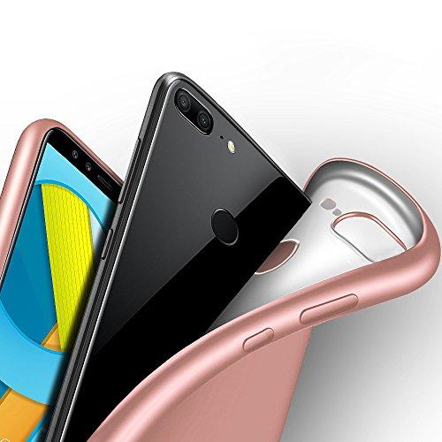 Huawei Honor 9 Lite Hülle, Eabuy Ultra Dünn FeinMatt Weich TPU Bumper Shockproof Anti-Slip Anti Fingerabdruck Schutzhülle für Huawei Honor 9 Lite Roségold
