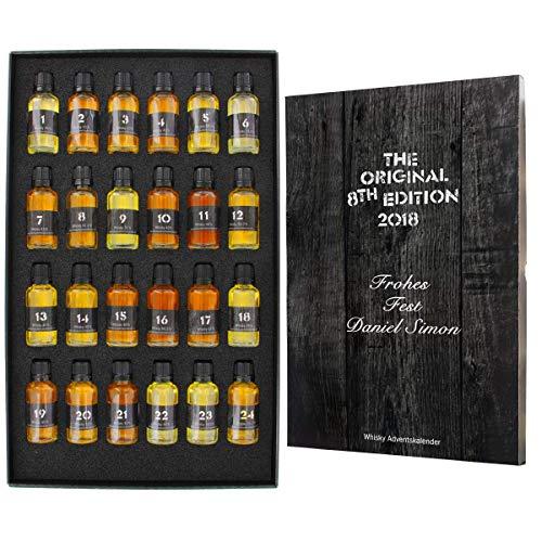 Whisky-World Adventskalender mit Ihrer individuellen Gravur