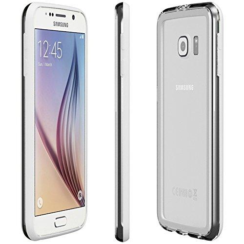Samsung Galaxy S4 / S4 Neo Hülle - EAZY CASE Premium Bumper Handyhülle aus Silikon - Ultra Slim Schutzhülle für das Smartphone in Schwarz Weiß