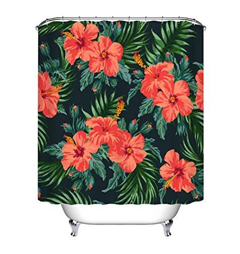 FUHOAHDD Badezimmer Duschvorhang, Top Qualität Anti-Schimmel Duschvorhänge Digitaldruck inkl. 8-12 Duschvorhangringe, 001 - Trocknen Wildblumen