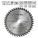 S&R Kreissägeblatt 160mm x 20mm(+ring 16mm) x2,2mm 40T,/Wood Craft/Holz Kraft in Profiqualität