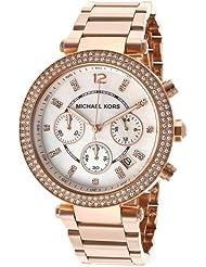 Michael Kors MK5491 - Reloj de cuarzo con correa de acero inoxidable para mujer, color nácar