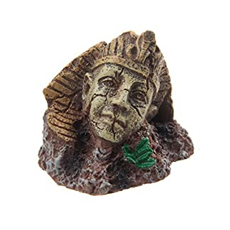 emours Easter Island Pharaoh Egypt Aquarium Fish Tank Ornament Reptile Habitat Decor 14
