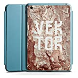 Apple iPad Mini 4 Smart Case hellblau Hülle Tasche mit Ständer Smart Cover Hoehle Vektor Steine