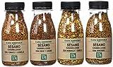 Casa Gispert Semillas de Sésamo Caramelizado 4 Sabores - Paquete de 4 x 110 gr - Total: 440 gr