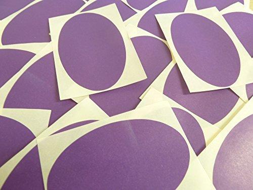 82x51mm Púrpura Oscuro Violeta Forma Ovalada Etiquetas, 25 auta-Adhesivo Código De Color Adhesivos, adhesivo óvalos para Manualidades y Decoración