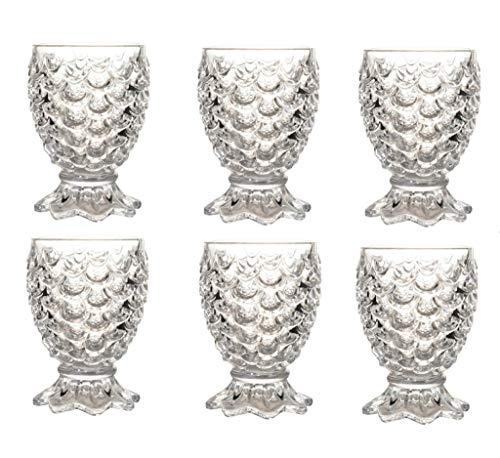 Yycdd bicchiere di cristallo, calice bicchiere da whisky bicchieri da birra delicato tazza da sirena design elegante, set da 2 (230ml)