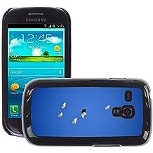 Sólo del estilo caliente teléfono móvil PC carcasa // M00140142 pàjaros VACUÓMETRO enarbolen bragueta // Samsung Galaxy S3 MINI i8190