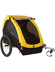 Burley Fahrrad Kinder Anhänger BEE Gelb faltbar 2 Sitzer Flex Connector, 946203