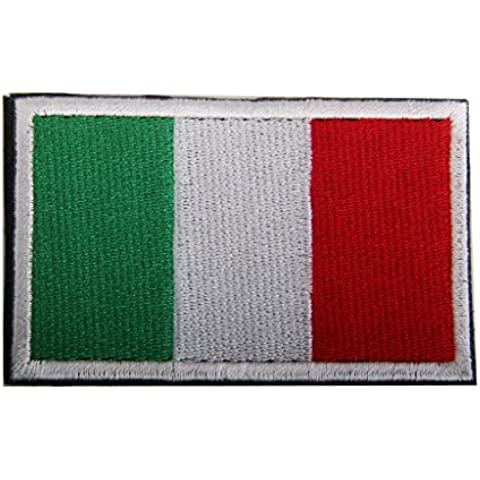 Italia Bandera Italiana Gancho Bordado Táctico Placa De Sujeción De Bucle