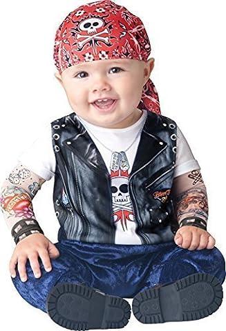 De luxe Bébés Garçons Born to be Wild Motard Tattoo Manches Livre Jour Halloween En Personnage Costume De Déguisement (6-12