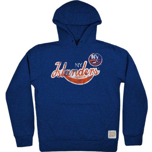 Original Retro Brand NHL New York Islanders Herren Tri-Blend Fleece Hoodie, Größe S, Royal (New York Islanders Hoodie)
