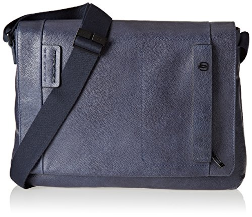Piquadro Pulse Plus Borsa Messenger, Uomo, Blu