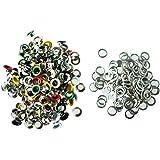 TOOGOO (R) 200X Remaches Metal Redondo 9mm Colores Tachuelas Studs Bolsa/Calzado/Guante