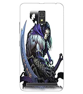 ColourCraft The Demon Design Back Case Cover for LENOVO A6600 PLUS