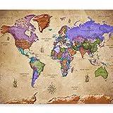 murando - Fototapete Weltkarte Vintage 400x280 cm - Vlies Tapete - Moderne Wanddeko - Design Tapete - Wandtapete - Wand Dekoration - Landkarte k-A-0381-a-a