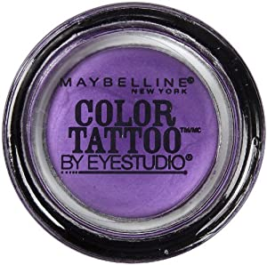 Maybelline EyeStudio Color Tattoo 24Hr Eyeshadow, Painted Purple [20], 0. 14 oz