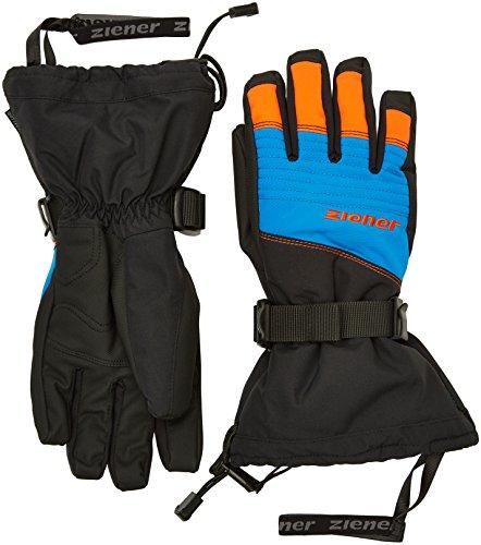 Ziener Herren Gannik AS(R) Glove Ski Alpine Skihandschuh, Black.Persian Blue, 6,5