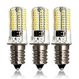 ZEEFO E14 LED Birnen, Dimmbare Warmweiße Lichtfarbe 3000K 360Lumen AC 220V-240V 4W, Kleine Schraube LED 72Stk 4014SMD Energiesparende Glühbirnen für Innenbeleuchtungen, Kristallkronleuchter(3er PACKS)
