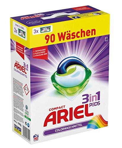 Ariel 3 in 1 Pods Colorwaschmittel, 1er Pack (1 x 90 Waschladungen)