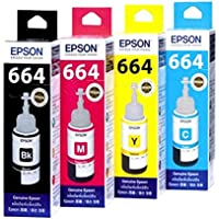 Epson Ink All Colors (T6641-B,T6642-C,T6643-M,T6644-Y) 70 Ml Each For L100/L110/L200/L210/L300/L350/L355/L550