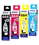 #6: Original Epson Ink All Colors (T6641-B,T6642-C,T6643-M,T6644-Y) 70 Ml Each For L100/L110/L200/L210/L300/L350/L355/L550