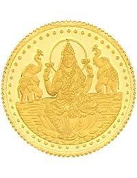 Malabar Gold & Diamonds 24k (999) Goddess Lakshmi 1 gm Yellow Gold Coin