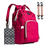 Baby Nappy Changing Bag, WaterHigh Diaper Bag Rucksack Travel Backpack with Changing Mat