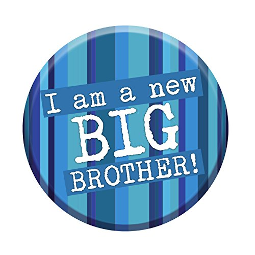 Price comparison product image I'm A New Big Brother Badge 76mm Congratulations New Baby Gift Sibling