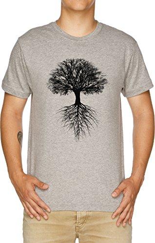 Baum von Leben Herren T-Shirt Grau -