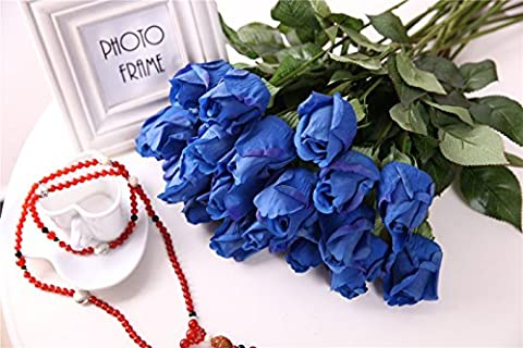 YSBER 1*10 Pcs Real Touch Silk Artificial Rose Flowers Home decorations for Wedding Party or Birthday Garden Bridal Bouquet Flower Saint happy Valentine's Day Gifts Party