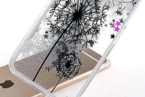Custodia per iPhone 6s, iPhone 6s diamante TPU custodia, Newstars iPhone 6iPhone 6s case, Bling glitter silicone, iPhone 6s 11,9cm Bling morbido TPU ultra sottile per iPhone 6, cute Girl bellissimi  Dandelion Black
